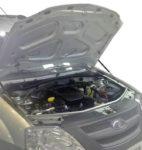 Амортизаторы капота на Lada Largus / Renault Logan (ULALAR012)
