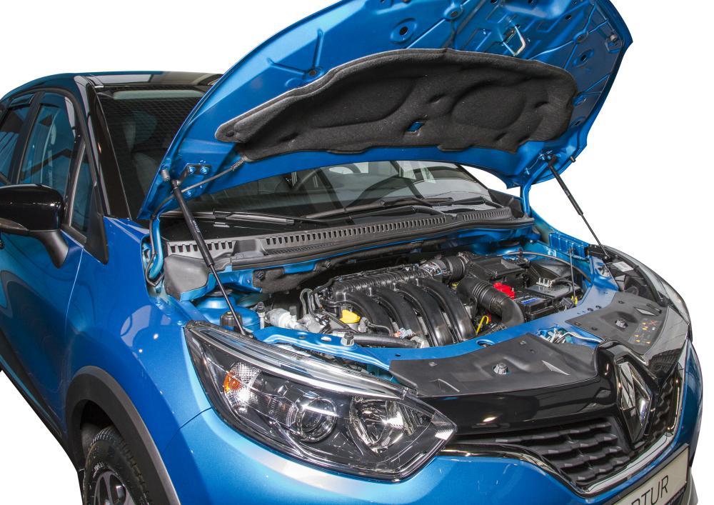 Амортизаторы капота на Renault Kaptur (UREKAP011)
