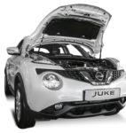 Амортизаторы капота на Nissan Juke (UNIJUK012)